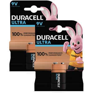 Duracell Ultra Power 9V  Twin Pack