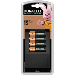 Duracell Hi-Speed 15 Min Charger +4AA