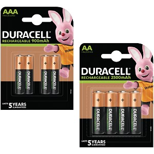 Duracell Rechargeable AA/AAA 4 Packs