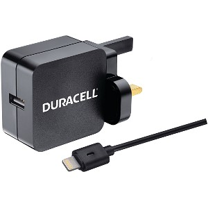Duracell 2.4A Charger & MFi Lightning Cable (BUN0050A)