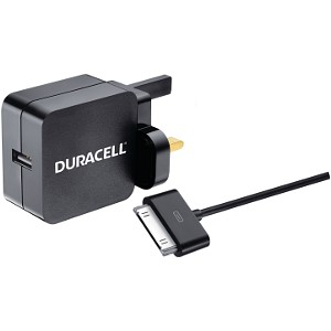 Duracell 2.4A Wall Charger-30 Pin USB Cable (BUN0051A)