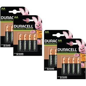Duracell Pre-Charged AA 2500mAh 16 Pack