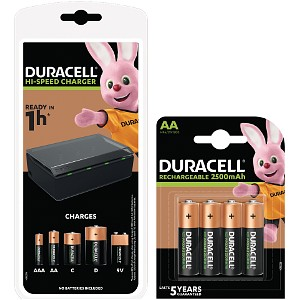 Duracell 1hr Multi-Charger + 4 x AA