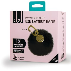 Black Power Poof Power Bank