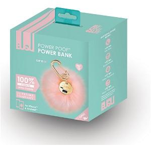 Pink Power Poof Power Bank