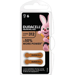 DA312 Hearing Aid Battery - 6 pack