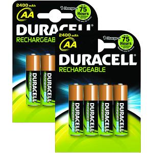 Duracell AA Rechargeable 8 pack