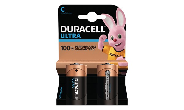 Duracell Ultra C Size 2 Pack