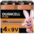 Duracell Plus Power 9v Pack of 4
